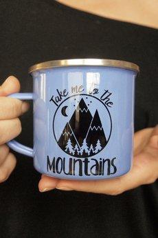 ONE MUG A DAY - Take me kubek w góry emaliowany