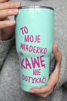 ONE MUG A DAY - Metalowy kubek termiczny Wiaderko na kawę Miętowy