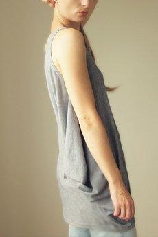 ONE MUG A DAY - Bluzka Skrzydło ramiączka szara