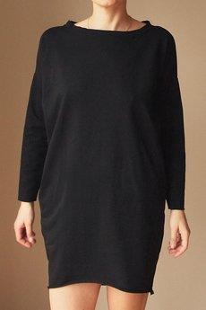 ONE MUG A DAY - Sukienka dresowa Oversize Czarna