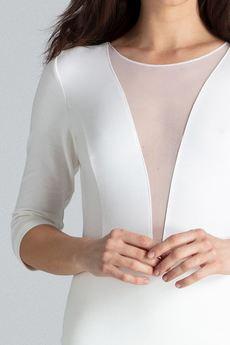 LENITIF - Sukienka L012 Ecru