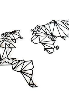 decolicious.pl - Geometryczna mapa MAPA ŚWIATA