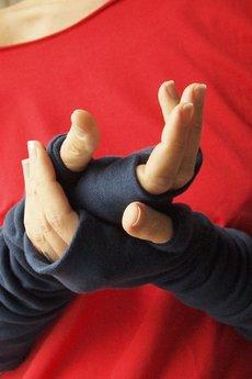 ONE MUG A DAY - Rękawki z kciukiem granatowe
