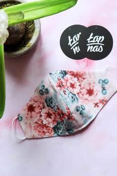ŁAP NAS - Wielorazowa maseczka z kwiatowym wzorem.