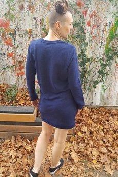 Slogan ubrania ekologiczne, etyczne i wegańskie - SLOGAN Rose grey melange sukienka damska