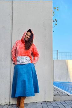 Ququ   Design - spódnica zamszowa