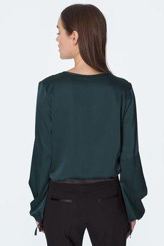 Nife - nife Czarne spodnie z satynowym paskiem (SD54)