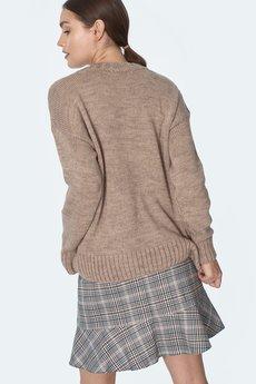 Nife - nife Mini spódnica z falbanką w kratę (SP53)