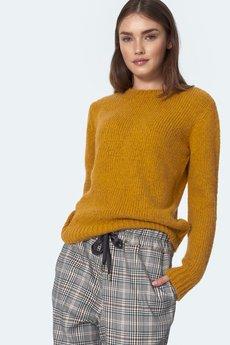 Nife - nife Tkany klasyczny musztardowy sweter (SW07)
