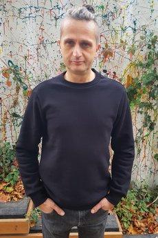 Slogan ubrania ekologiczne, etyczne i wegańskie - SLOGAN Neem black bluza męska