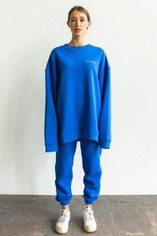 WARSAW SAINTS - Crewneck Basic Blue