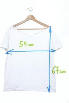 ONE MUG A DAY - Ależ miły dzień koszulka tshirt biały oversize