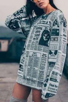 MY! OH MY. - Bluza Newspaper