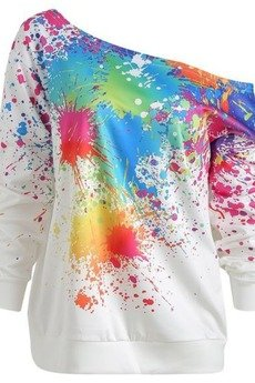 MY! OH MY. - Bluza Painty white