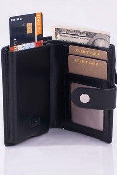 Cavanni - Portfel Męski z automatycznym wysuwaniem kart RFID