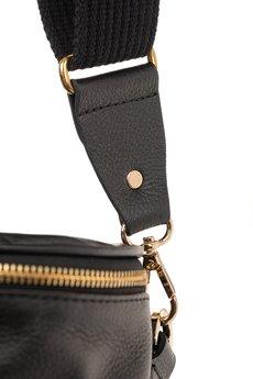 GAWOR - Skórzana torebka damska Venus czarna