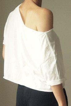 ONE MUG A DAY - Tshirt biały oversize S-XXL wersja krótka