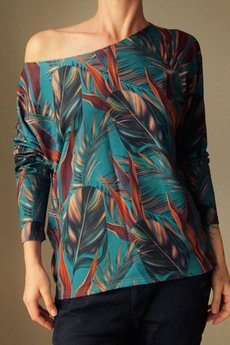 ONE MUG A DAY - Luźna bluza dżungla