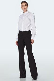 Nife - Biała koszula z lamówkami na rękawach (K57)