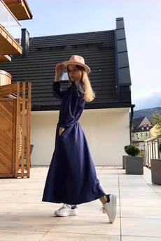 Ququ   Design - Elegancka kobaltowa sukienka