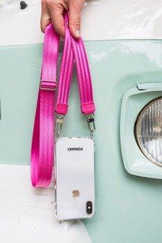 FONAKI - Etui na pasie samochodowym do iPhone kolor PINK
