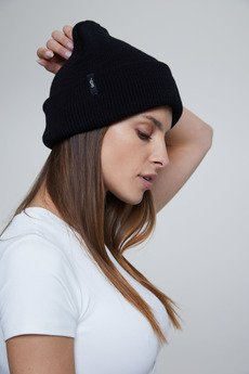 HARP TEAM - Premium Cotton Beanie Black