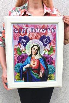 Her Holiness - Plakat Matka Boska Girl Power Holo