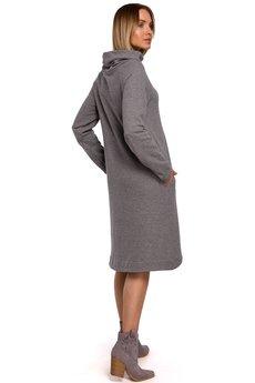 MOE - Sukienka z asymetrycznym dołem - M551