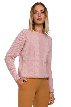 MOE - Sweter ze splotem warkoczowym - M554