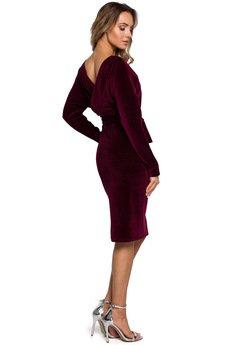 MOE - Welurowa sukienka - M561