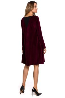 MOE - Trapezowa sukienka z weluru - M566