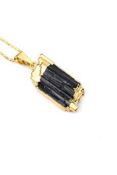Brazi Druse Jewelry - Colare Turmalin Czarny złoto