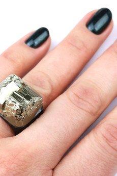 Brazi Druse Jewelry - InspiRing Piryt Agat rozmiar 14
