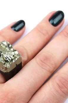 Brazi Druse Jewelry - InspiRing Piryt Agat rozmiar 15