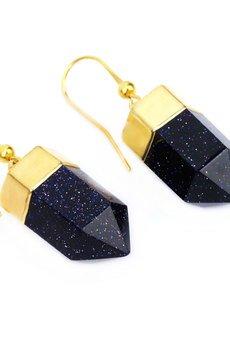 Brazi Druse Jewelry - Earrings Noc Kairu złoto