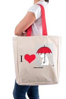 Tailormade24 - Licencjonowana torba XL  I LOVE MUMINEK
