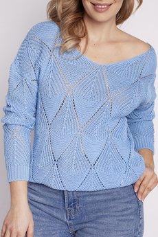MKM swetry - Ażurowy sweter, SWE231 niebieski