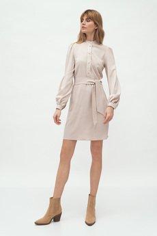 Nife - nife wiosna wiązana sukienka na stójce (S177)